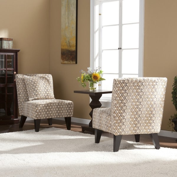 Shop Natalie Slipper Chairs with Pillows (Set of 2) - Free ...