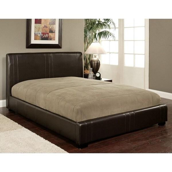 Abbyson Living Malibu Dark Brown Bi-cast Leather Queen-size Bed