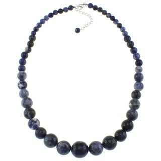 Pearlz Ocean Blue Sodalite Journey Necklace