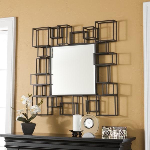Harper Blvd Cube Frame Wall Mirror