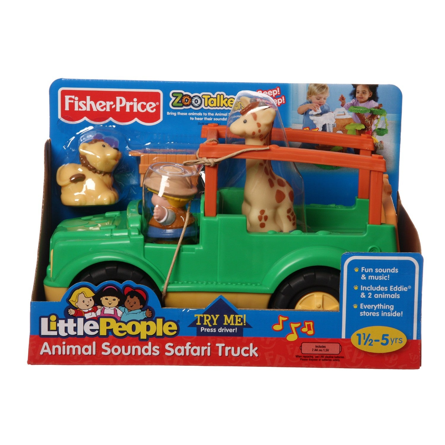 Shop Fisher Price Little People Zoo Talkers Animal Sounds Safari Truck Overstock 6311031