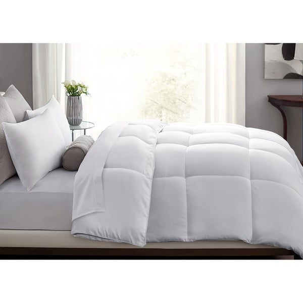 All-Season Microfiber Feather-Blend Comforter