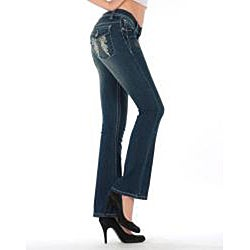 MDZ Women's 'Kloe' Dark Wash Bootcut Jeans - Thumbnail 1