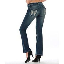 MDZ Women's 'Kloe' Dark Wash Bootcut Jeans - Thumbnail 2