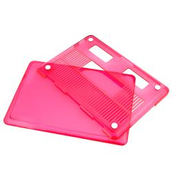 INSTEN Clear Pink Snap-on Laptop Case Cover for Apple MacBook Pro 13-inch - Thumbnail 1