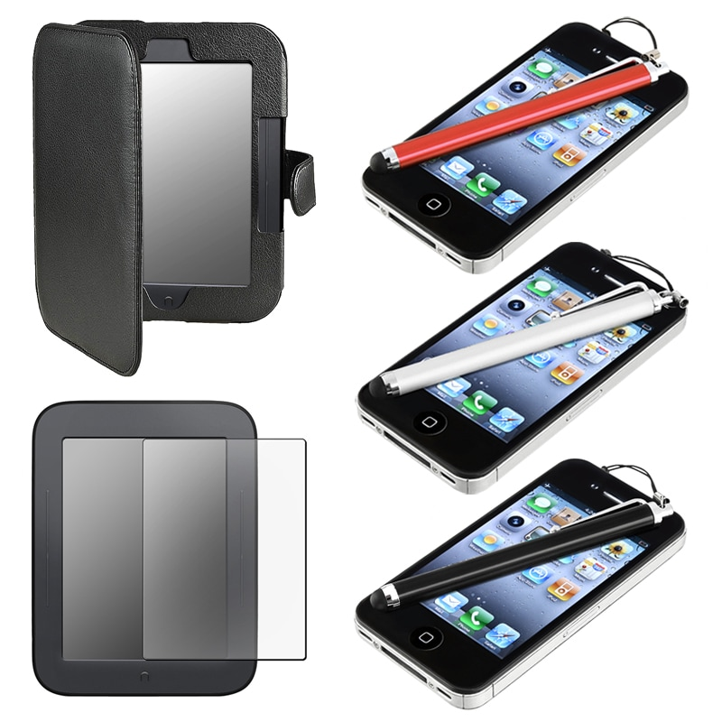 Leather Case/ Screen Protector/ Stylus for Barnes & Noble Nook 2 - Thumbnail 0