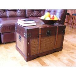 Cambridge Large Wood Trunk and Wooden Treasure Chest - Thumbnail 1