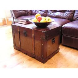 Cambridge Large Wood Trunk and Wooden Treasure Chest - Thumbnail 2