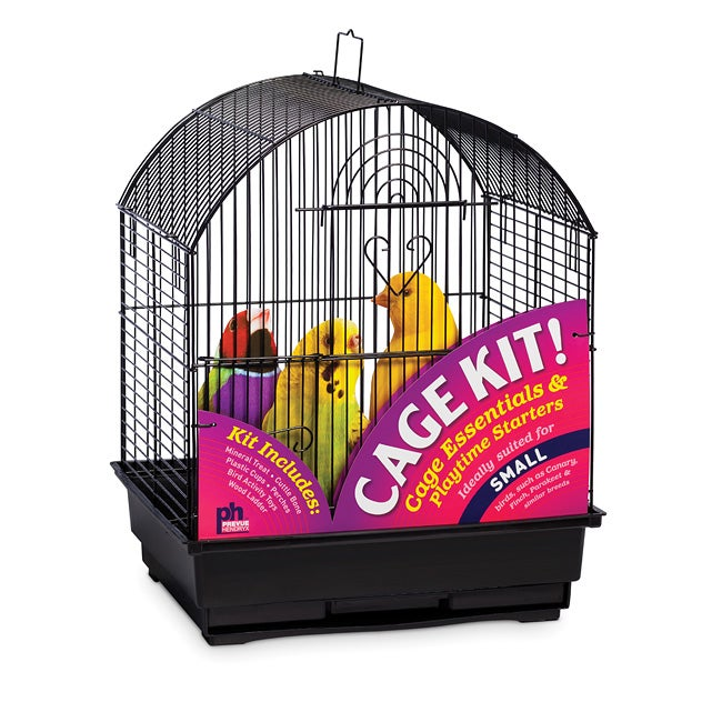 Prevue Pet Products Round Roof Bird Cage Kit Black 91101