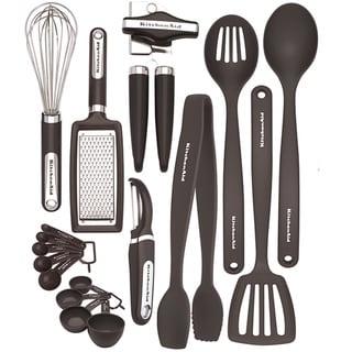 KitchenAid 17-Piece Kitchen Tool and Gadget Set in Black
