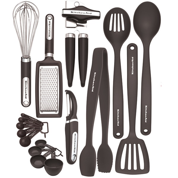 Kitchenaid black 17 piece kitchen tool and gadget set free kitchenaid black 17 piece kitchen tool and gadget set teraionfo