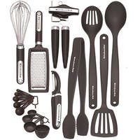 KITCHEN AID black 17 piece kitchen tool and gadget set