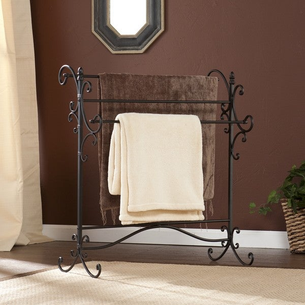 Harper Blvd Black Metal Quilt Rack - Free Shipping Today ... : metal quilt rack - Adamdwight.com