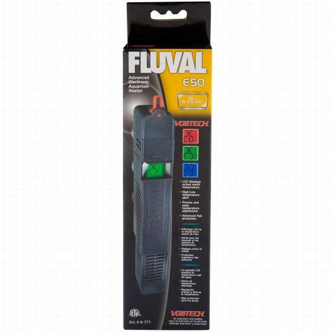 Fluval A772 E 100-watt Electronic Heater and LCD Temperature Display