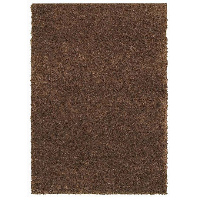 Grand Slam Coffee Shag Rug (5' x 7')
