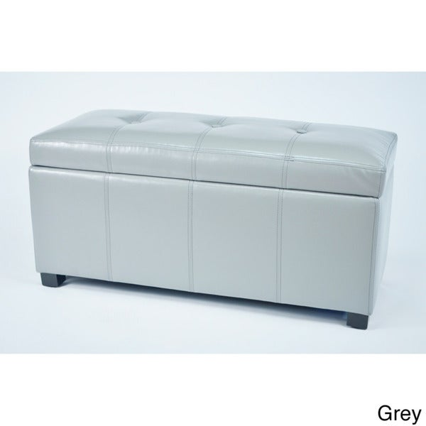 Warehouse Of Tiffany Ariel Dark Brown Faux Leather Storage Bench   Free  Shipping Today   Overstock.com   13940897