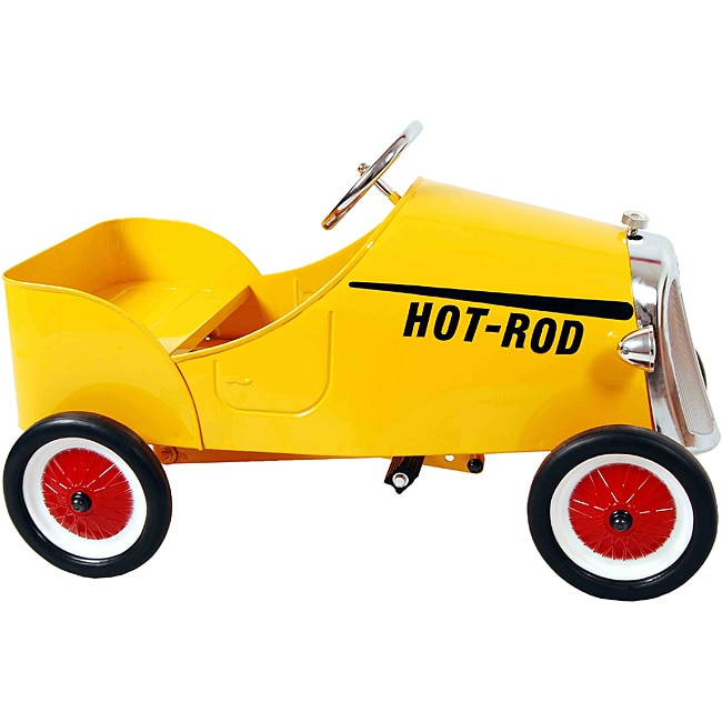 Yellow Retro 19-inch Stamped-steel/Plastic Hot Rod Pedal