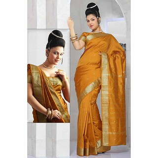 Handmade Sari Fabric with Golden Border (India) (More options available)