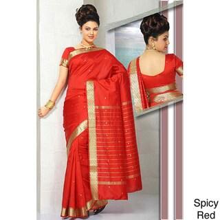 Sari Fabric with Golden Border (India)