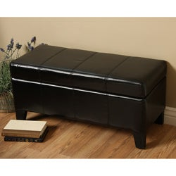 Warehouse of Tiffany Ariel Black Storage Bench