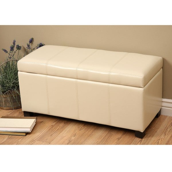 Warehouse of Tiffany Ariel Ivory Storage Bench