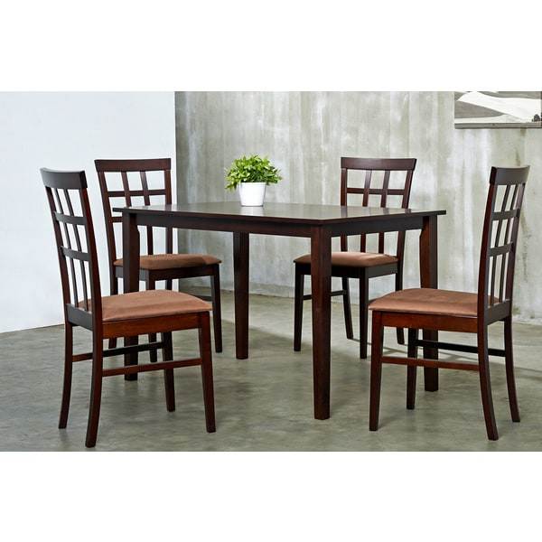 Warehouse of Tiffany Justin Brown Sugar 5-Piece Dining Furniture Set