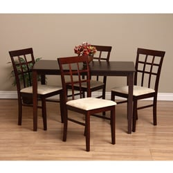 Warehouse of Tiffany Justin Sand 5-Piece Dining Furniture Set