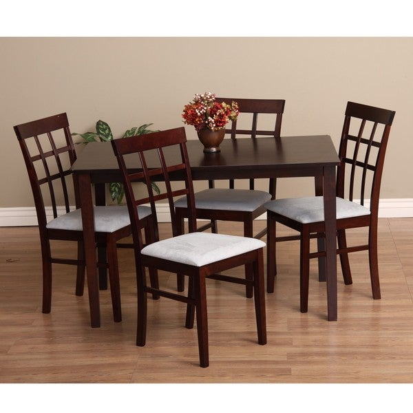 Warehouse of Tiffany Justin 5 Piece Grey Dining Furniture