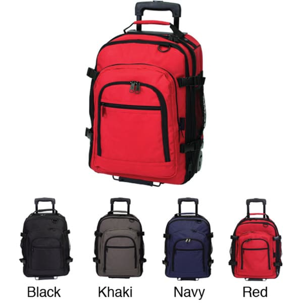 Western Pack Bookmobile 18-inch 600HD-denier Rolling Laptop Backpack
