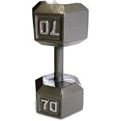 CAPBarbell 70 Pound Soild Hex Dumbbell