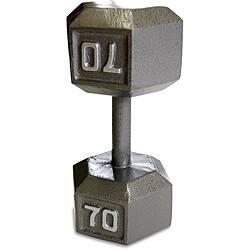 CAPBarbell 70 Pound Soild Hex Dumbbell|https://ak1.ostkcdn.com/images/products/6313233/CAPBarbell-70-Pound-Soild-Hex-Dumbbell-P13941089.jpg?impolicy=medium