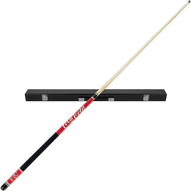 Coca-Cola Billiard Pool Cue Stick with Black Case
