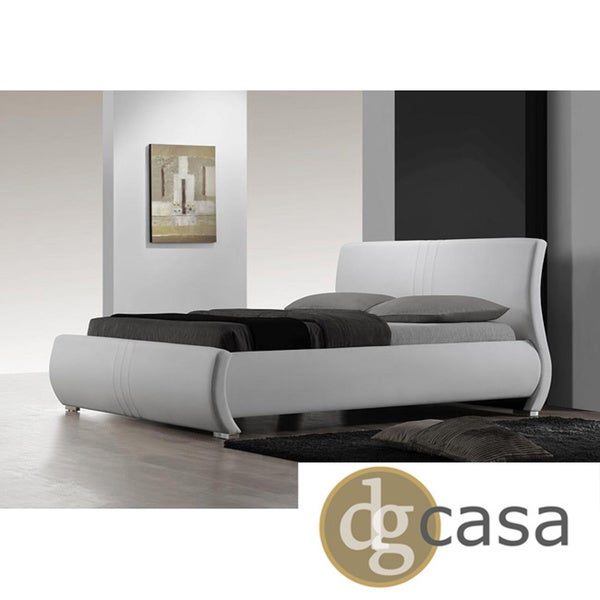 dg casa montecito white king size bed