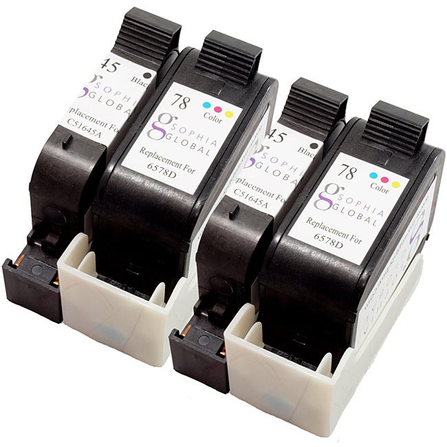 HP 45/78 Ink Cartridge Combo (Remanufactured) (Pack of 4) - Thumbnail 0