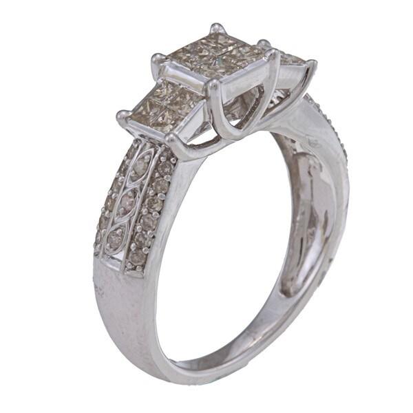 10k White Gold 1ct TDW Diamond Engagement Ring (J-K, I2-I3)