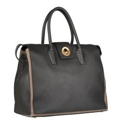Saint Laurent Grey/ Tan Muse Two Cabas Tote - Thumbnail 1