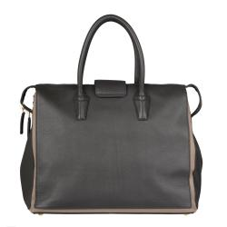 Saint Laurent Grey/ Tan Muse Two Cabas Tote - Thumbnail 2
