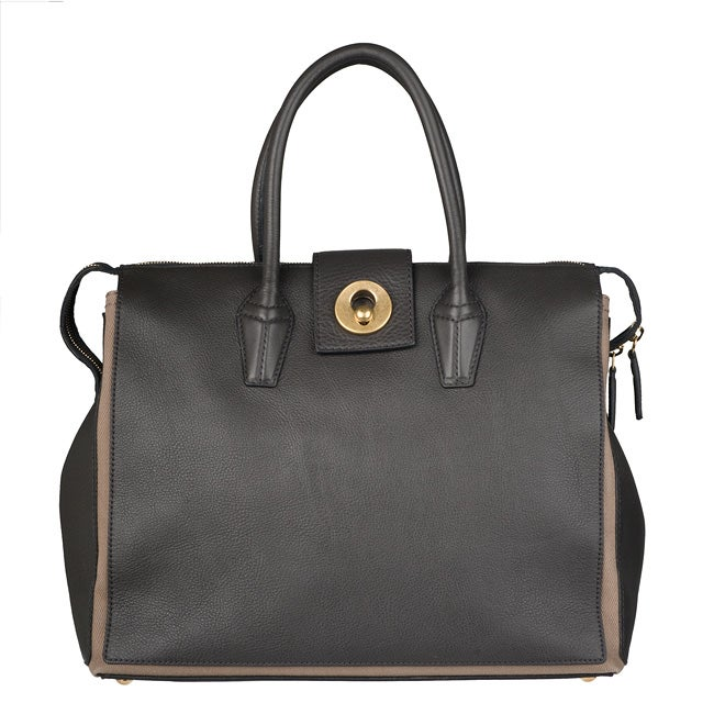 Saint Laurent Grey/ Tan Muse Two Cabas Tote