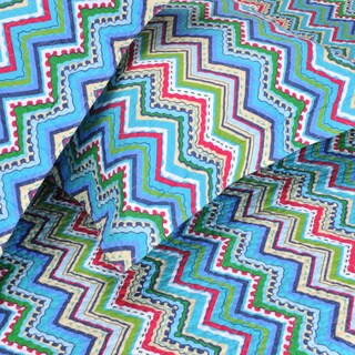 Superior Blue Zig-Zag 3-piece Quilt Set