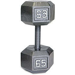 CAP Barbell 65-pound Hexagonal Dumbbell with Solid-steel Heads - Thumbnail 0