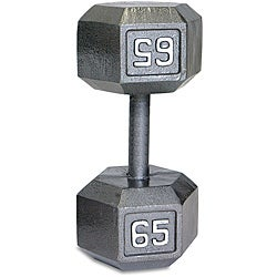 CAP Barbell 65-pound Hexagonal Dumbbell with Solid-steel Heads