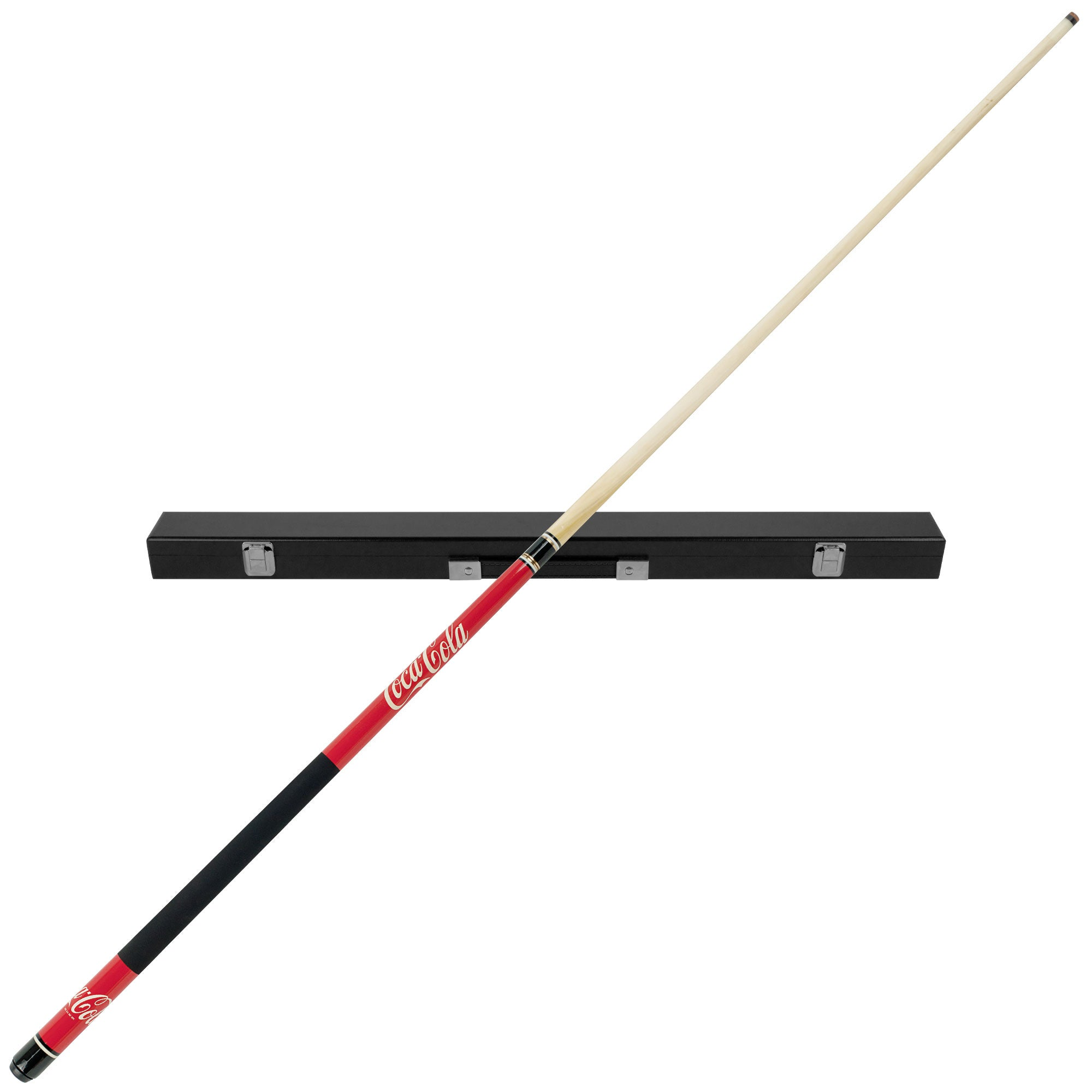 Coca-Cola Billiard Wood Pool Cue Stick with Black Hard Case