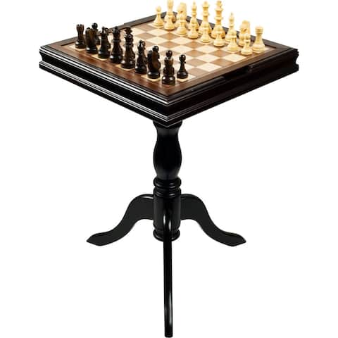 Chess and Backgammon 27-inch High Table