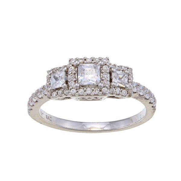 14k White Gold 1ct TDW Diamond 3-stone Engagement-style Ring (H-I, I2)
