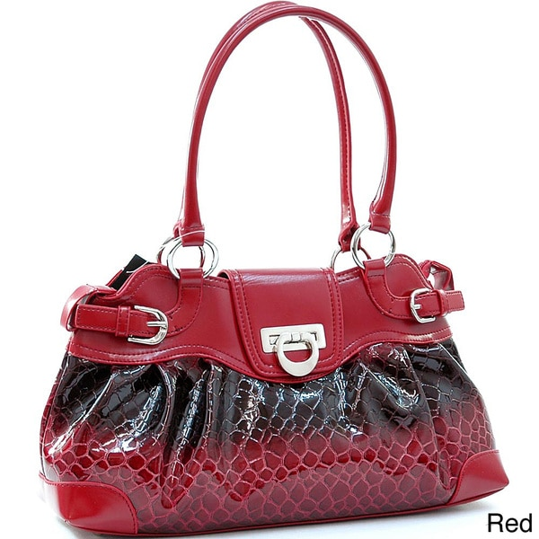 Shiny Snakeskin-pattern Faux Leather Fashion Shoulder Bag