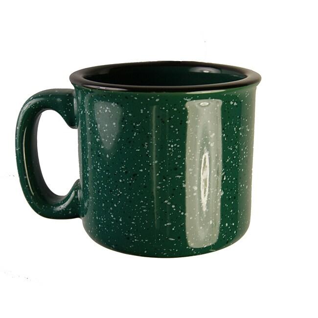 Santa Fe Style Ceramic Mug, 15 oz- Green (Pack of 4)