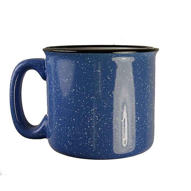 Santa Fe Style Ceramic Mug, 15 oz- Light Blue (Pack of 4)