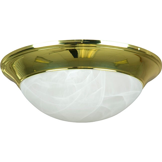 American Two-light Polished Brass Flush Mount (Two Light ...