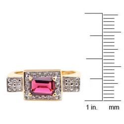 Michael Valitutti 14k Gold Pink Tourmaline and 1/4ct TDW Diamond Ring (I-J, I1-I2)