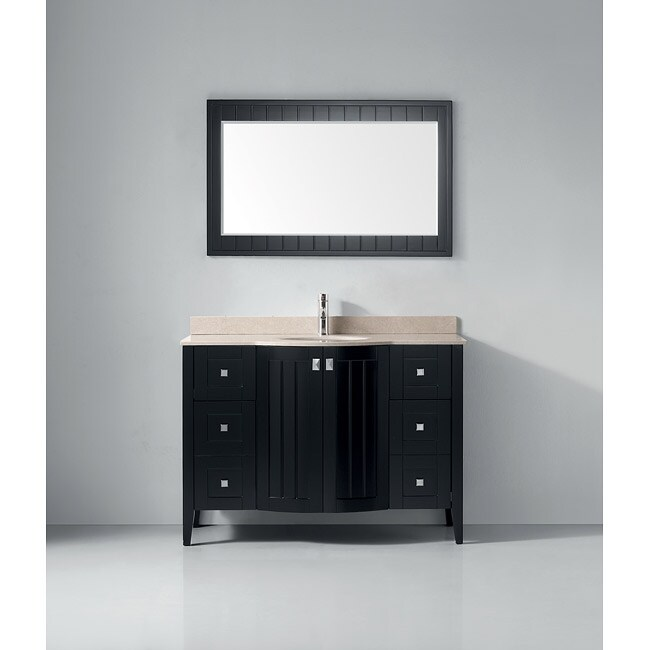 Lakeport 48-inch Espresso Beige Single Sink Vanity Set
